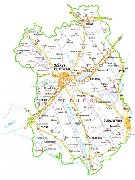fejér megye térkép Szolgáltatási terület, települések fejér megye térkép